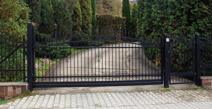 רק החוצה שער לבית פרטי | שער חניה לבית פרטי | שערים חשמליים | שערים (אב שער) OO-64