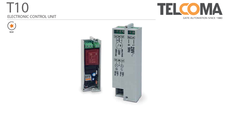 פיקוד ובקרה אלקטרוני מנוע דלת מתרוממת טלקומה - Telcoma T201