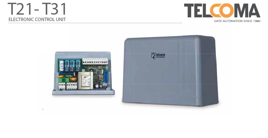 פיקוד ובקרה אלקטרוני מנוע תריס גלילה טלקומה - Telcoma T21
