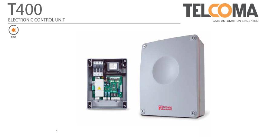 פיקוד אלקטרוני מנוע שער חשמלי - Telcoma T400