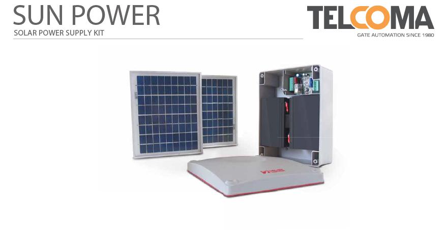 ערכת חשמל סולארי לשערים, מחסומים ודלתות מוסך - Telcoma Sun Power