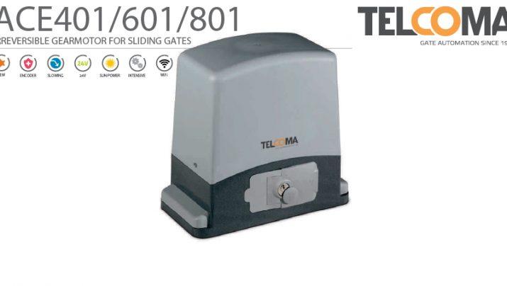 מנוע חשמלי אלקטרו-מכני לשער הזזה נגרר - ACE 401/601/801 - Telcoma