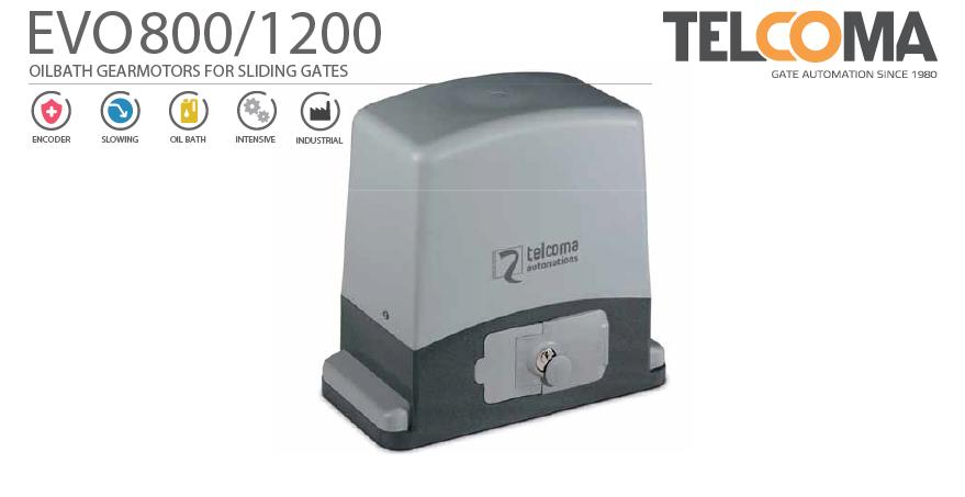מנוע חשמלי אלקטרומכני טבול שמן לשער הזזה נגרר - Telcoma EVO800 - שערים אב שער