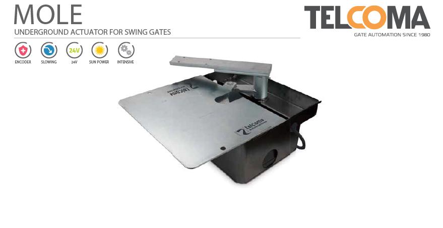 מנוע מכני תת קרקעי לשער כנף - Telcoma MOLE