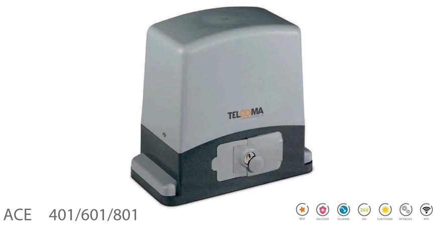 מנוע חשמלי לשער הזזה נגרר ACE 401/601/801 - Telcoma