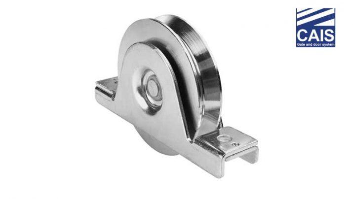 """גלגל מחורץ """"V"""" בעל מיסב יחיד עם תמיכה פנימית לדלתות ושערי הזזה - CAIS WSV"""