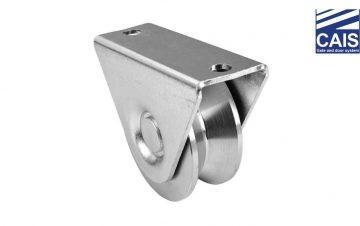 """גלגל מחורץ """"V"""" בעל מיסב יחיד עם תמיכה חיצונית לדלתות ושערי הזזה - CAIS WTV"""