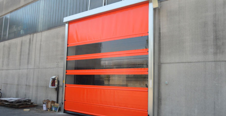 דלת מהירה PVC נגללת