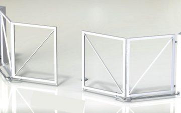 שער כנף חשמלי מתקפל ללא מסילה - שערים (אב-שער)